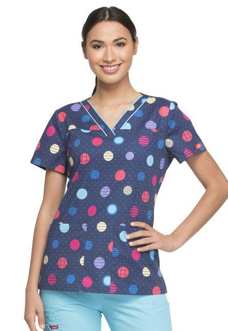Zdravotnícke oblečenie - Dámske blúzy - DK709-POLW
