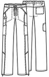 Zdravotnícke oblečenie - Dámske nohavice - 46000AB-WHCH - 4