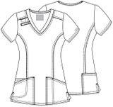Zdravotnícke oblečenie - Blúzy - 4710-REDW - 5