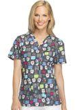 Zdravotnícke oblečenie - Dámske blúzy - DK704-HALU - 4