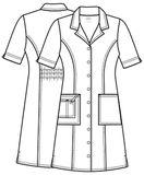 Zdravotnícke oblečenie - Zdravotnícke šaty - 4508-WHTW - 1