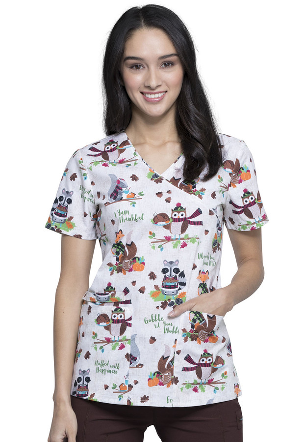 Zdravotnícke oblečenie - Dámske blúzy - CK614-WOOJ