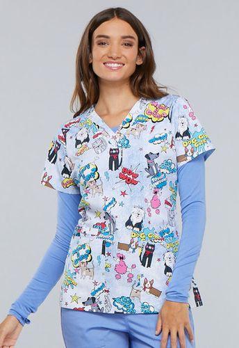 Zdravotnícke oblečenie - Dámske blúzy - CK616-TYPW