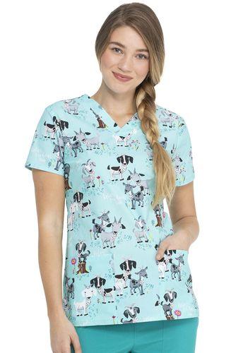 Zdravotnícke oblečenie - Dámske blúzy - DK704-IVGO
