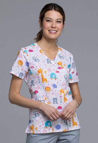 Zdravotnícke oblečenie - Dámske blúzy - CK614-ABBY