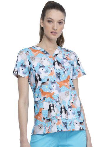 Zdravotnícke oblečenie - Dámske blúzy - CK616-DGLG