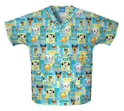 Zdravotnícke oblečenie - Blúzy s potlačou - 4700-PBOY