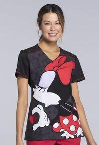Dámska zdravotnícka blúza Disney s potlačou Minnie