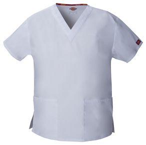 Dámska/unisex zdravotnícka blúza s V-výstrihom - biela