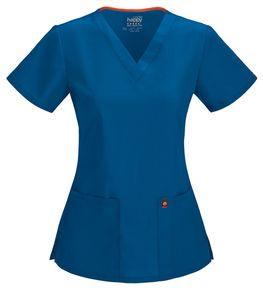 Dámska zdravotnícka blúza s V-výstrihom CERTAINTY - kráľovská modrá