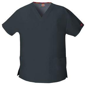 Dámska/unisex zdravotnícka blúza s V-výstrihom - cínová