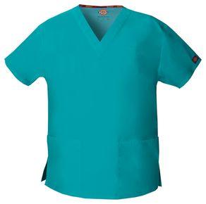 Dámska/unisex zdravotnícka blúza s V-výstrihom - modrozelená