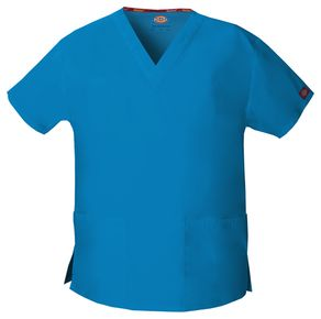Dámska/unisex zdravotnícka blúza s V-výstrihom - riviera modrá