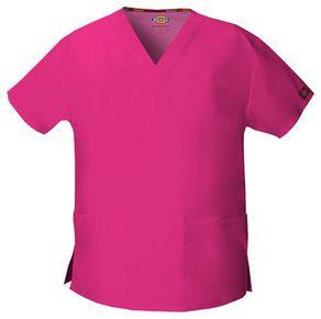 Dámska/unisex zdravotnícka blúza s V-výstrihom - ružová