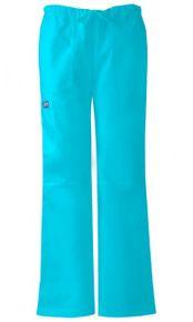 Dámske zdravotnícke nohavice nízkym sedlom - tyrkysová