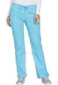 Dámske/ unisex zdravotnícke nohavice 5 vreckové - tyrkysová