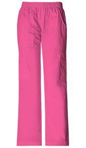 Dámske zdravotnícke športové nohavice s gumou v páse - šokujúco ružová