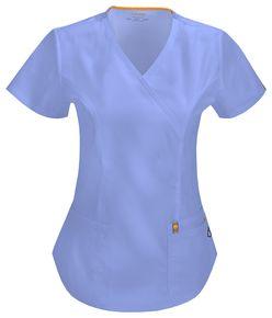 Elegantná dámska zdravotnícka blúza Certainity - nebeská modrá