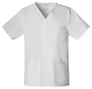 Pánska/ unisex zdravotnícka blúza V výstrih - biela