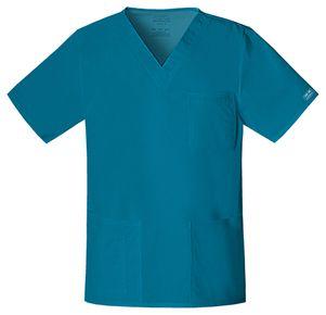 Pánska/ unisex zdravotnícka blúza V výstrih - karibská modrá
