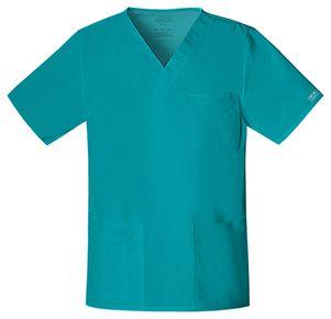 Pánska/ unisex zdravotnícka blúza V výstrih - modrozelená