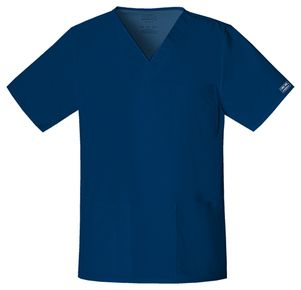Pánska/ unisex zdravotnícka blúza V výstrih - námornícka modrá