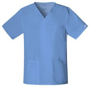Pánska/ unisex zdravotnícka blúza V výstrih - nebeská modrá