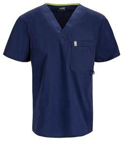 Pánska zdravotnícka blúza s V-výstrihom Certainty - námornícka modrá