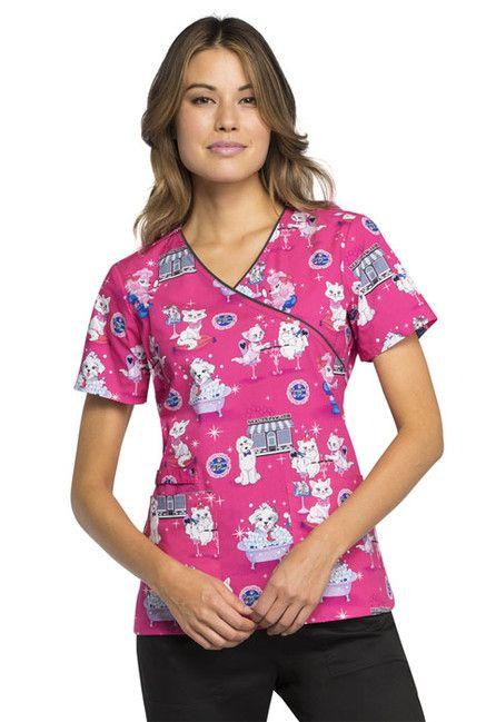 Zdravotnícke oblečenie - Dámske blúzy - CK614-BTPL