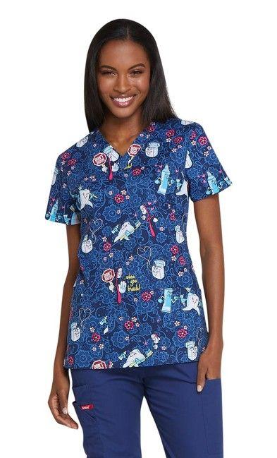Zdravotnícke oblečenie - Dámske blúzy - DK704-DNRU