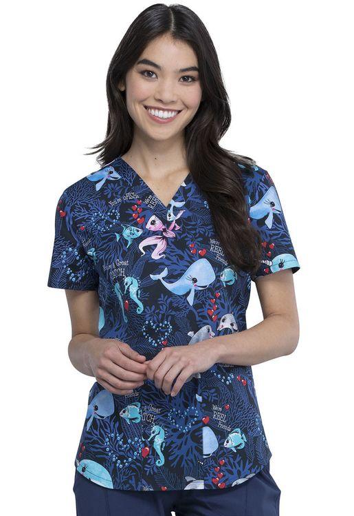 Zdravotnícke oblečenie - Dámske blúzy - CK652-YAFT