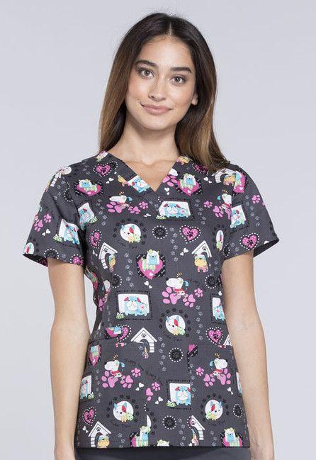 Zdravotnícke oblečenie - Dámske blúzy - CK616-PUYP