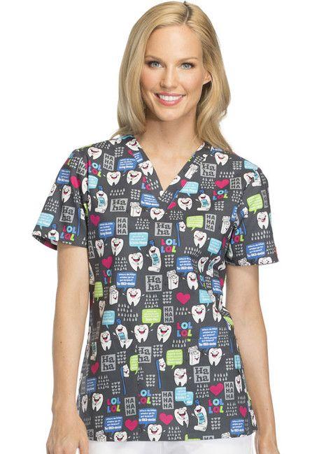 Zdravotnícke oblečenie - Dámske blúzy - DK704-HALU