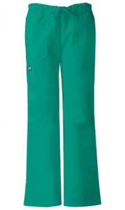 Dámske zdravotnícke nohavice nízkym sedlom - chirurgická zelená