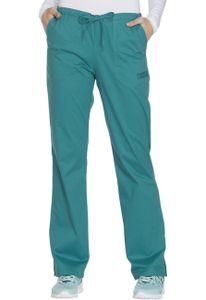 Dámske nohavice 5 vreckové - modrozelená