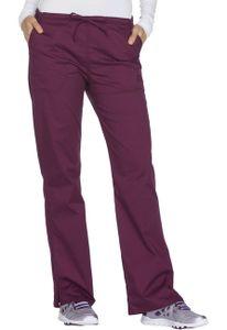 Dámske nohavice 5 vreckové - vínová