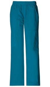 Dámske športové nohavice s gumou v páse - karibská modrá