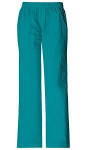 Dámske športové nohavice s gumou v páse - modrozelená