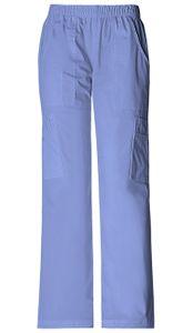 Dámske športové nohavice s gumou v páse - nebeská modrá