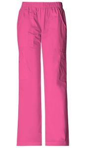 Dámske športové nohavice s gumou v páse - šokujúco ružová