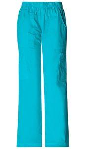 Dámske športové nohavice s gumou v páse - tyrkysová