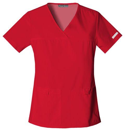 Zdravotnícke oblečenie - Dámske blúzy - 2968-REDB