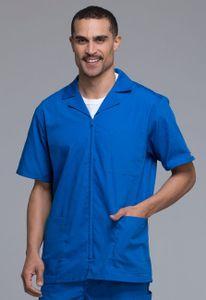 Pánska zdravotnícka košeľa na zips - kráľovská modrá