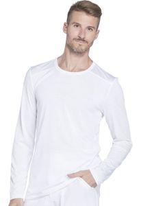 Pánske tričko s dlhým rukávom - biele
