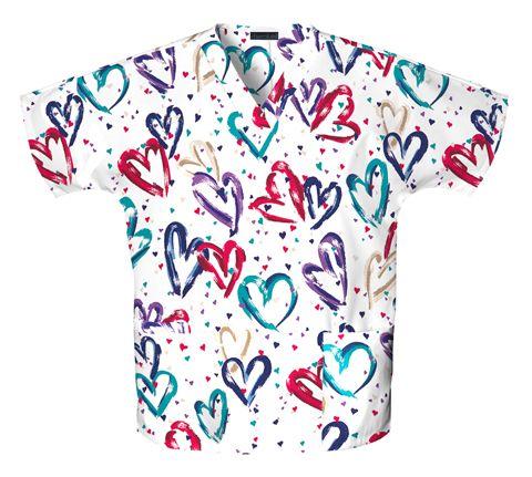 Zdravotnícke oblečenie - Blúzy s potlačou - 759-HRTB